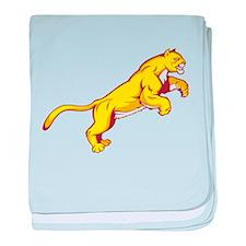 Golden Cougar baby blanket