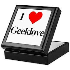 I Heart Geeklove Keepsake Box
