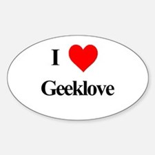 I Heart Geeklove Oval Decal