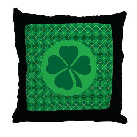 Irish Lucky 4 Leaf Clover St Patricks Throw Pillow