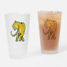 Saber Tooth Tiger Drinking Glass