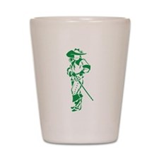 Green Musketeer Shot Glass