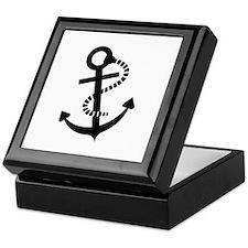 Anchor ship boat Keepsake Box