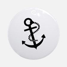 Anchor ship boat Ornament (Round)