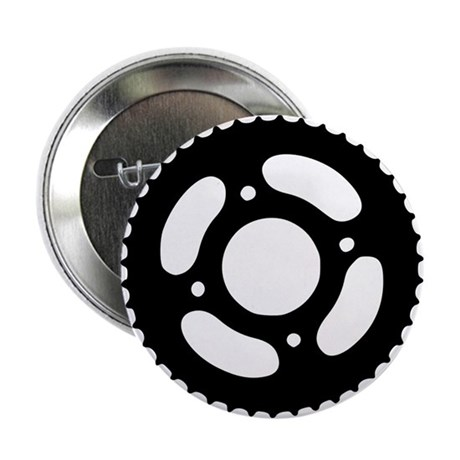 "Bicycle gear 2.25"" Button"