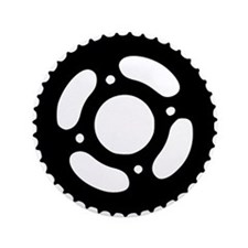 """Bicycle gear 3.5"""" Button"""