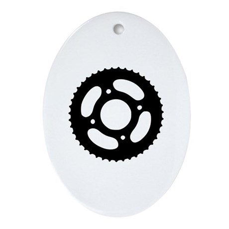 Bicycle gear Ornament (Oval)