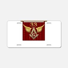 33rd Degree Masons Aluminum License Plate