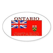 Ontario Ontarian Flag Oval Bumper Stickers