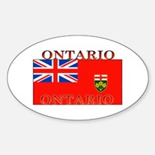 Ontario Ontarian Flag Oval Decal