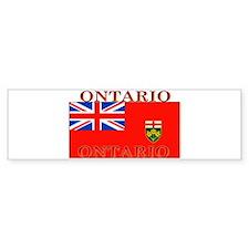 Ontario Ontarian Flag Bumper Bumper Sticker