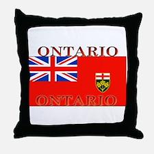 Ontario Ontarian Flag Throw Pillow