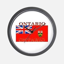 Ontario Ontarian Flag Wall Clock
