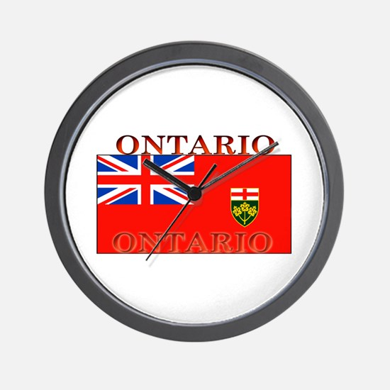 Ontario Ontarian Flag Wall Clock