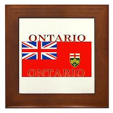 Ontario Ontarian Flag Framed Tile