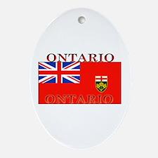 Ontario Ontarian Flag Oval Ornament