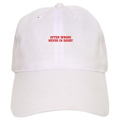 often wrong merchandise Baseball Cap