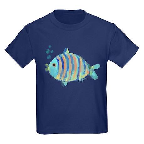 Big fish kids dark t shirt big fish t for Dark denim toddler shirt