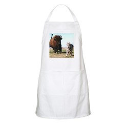 Orca Wolf Being Chased by Buffalo BBQ Apron