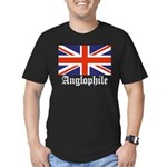 Anglophile Men's Fitted T-Shirt (dark)