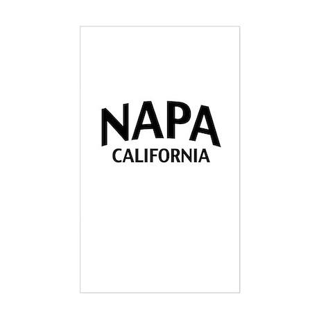 Napa California Sticker (Rectangle)