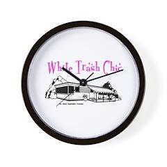 White Trash Chic Wall Clock