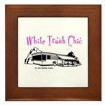 White Trash Chic Framed Tile
