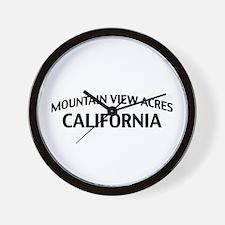 Mountain View Acres California Wall Clock