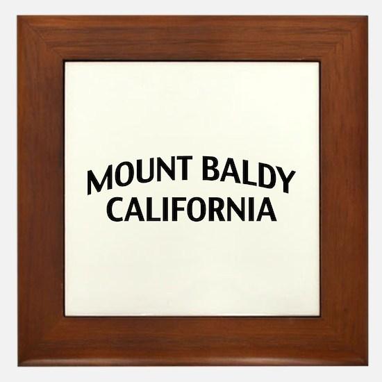 Mount Baldy California Framed Tile