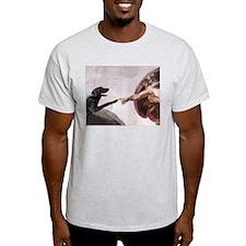 black lab Ash Grey T-Shirt