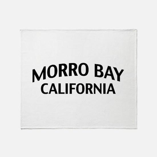 Morro Bay California Throw Blanket