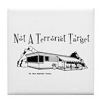 Not A Terrorist Target Tile Coaster