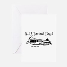 Not A Terrorist Target Greeting Cards (Package of