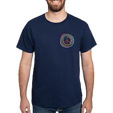 Neon Spiral Peace Sign II T-Shirt
