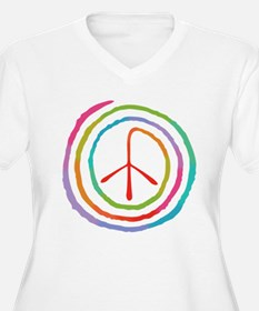 Neon Spiral Peace Sign II T-Shirt