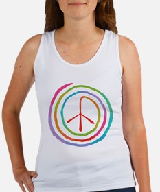 Neon Spiral Peace Sign II Women's Tank Top