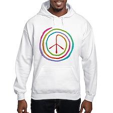 Neon Spiral Peace Sign II Hoodie Sweatshirt