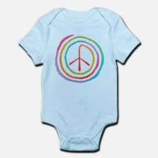 Neon Spiral Peace Sign II Infant Bodysuit