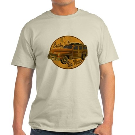 Catch a Wave Woodie Surf Wago Light T-Shirt
