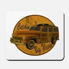 Catch a Wave Woodie Surf Wago Mousepad