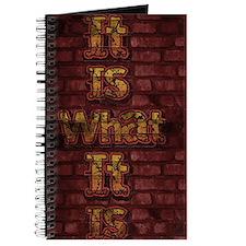 It Is What It Is wall art Journal