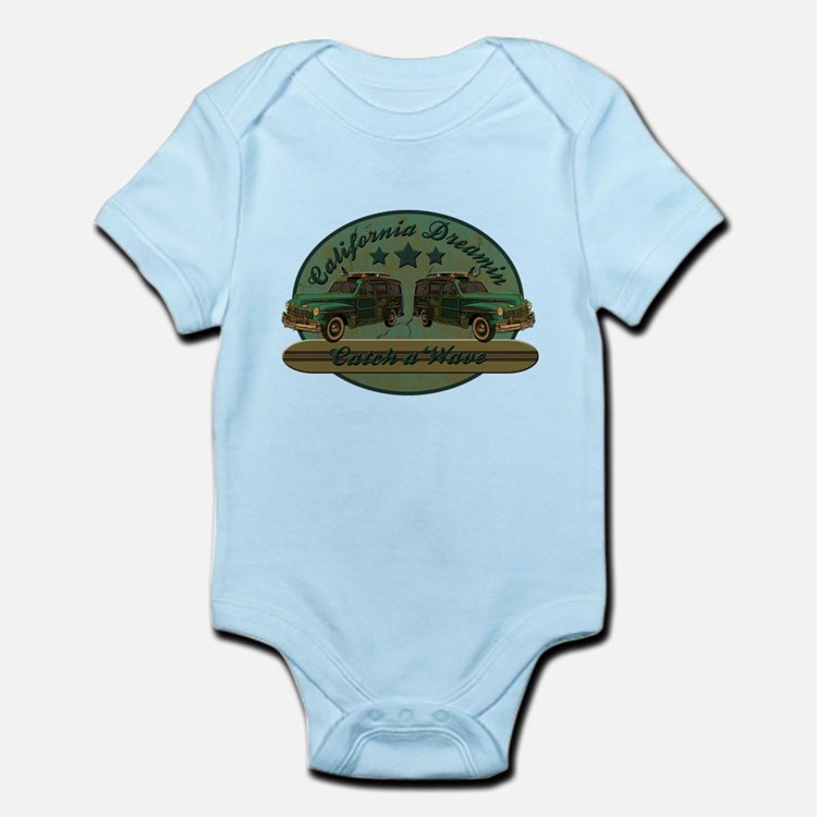 California Dreamin Woodie Sur Infant Bodysuit