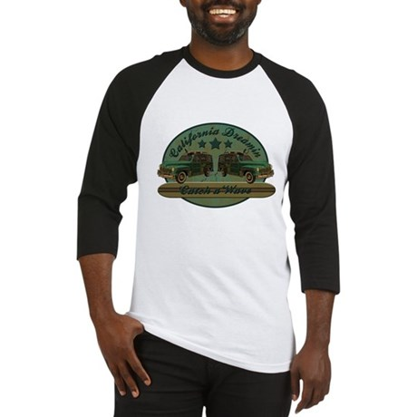 California Dreamin Woodie Sur Baseball Jersey