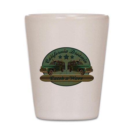 California Dreamin Woodie Sur Shot Glass