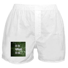 It is What It Is text design Boxer Shorts