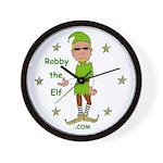 Robby The Elf Wall Clock
