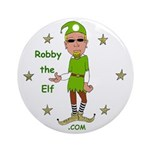 Robby The Elf Ornament (Round)