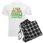 I See DRUNK People Men's Light Pajamas