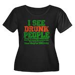 I See DRUNK People Women's Plus Size Scoop Neck Da