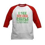 I See DRUNK People Kids Baseball Jersey